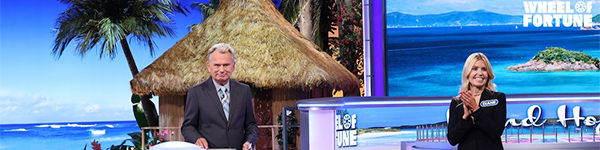 Pat Sajak and Diane Birnholz on the Wheel of Fortune