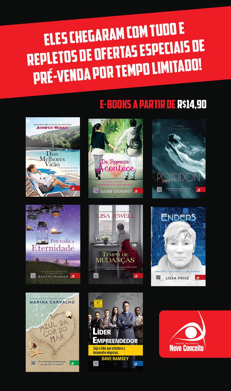 E-Books com condição especial de pré-venda.