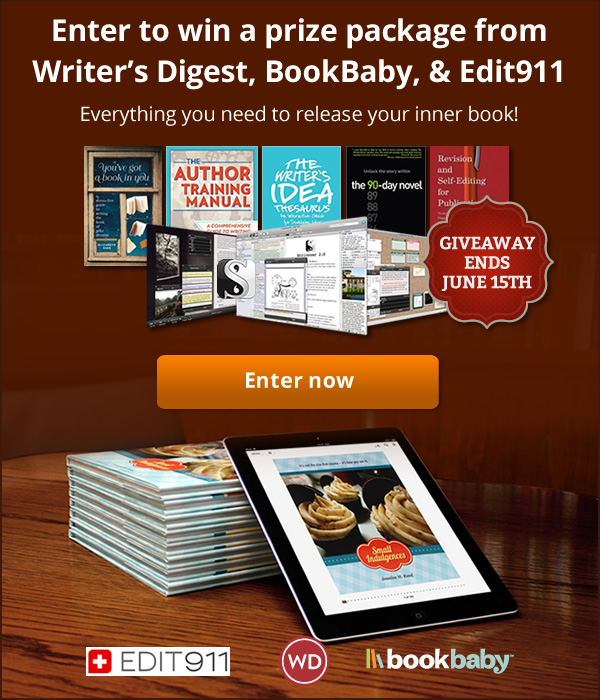 Win a prize package from Writer's Digest, BookBaby, & Edit911