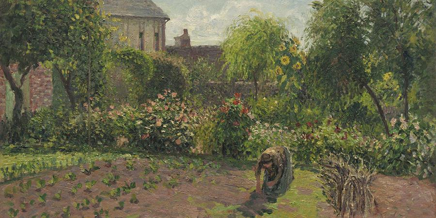 Image credit: The Artist's Garden at Eragny (detail), by Camille Pissarro, 1898, National Gallery of Art, Washington, D.C.