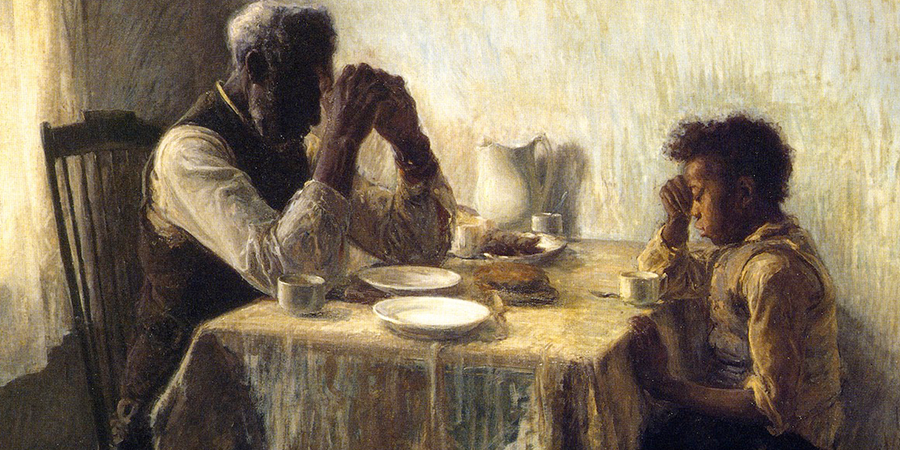 Image credit: The Thankful Poor (detail), by Henry Ossawa Tanner, 1894. Private collection.