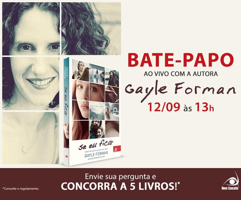 Bate-papo ao vivo com a autora Gayle Forman