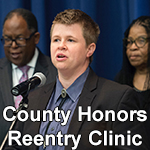Student-led reentry clinic honored.