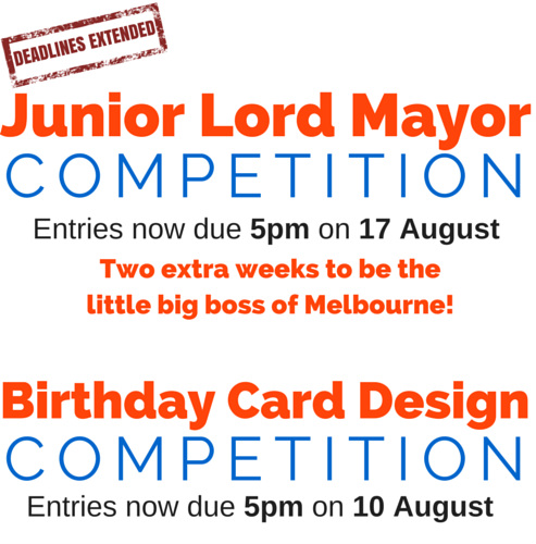 Junior Lord Mayor of Melbourne competition details