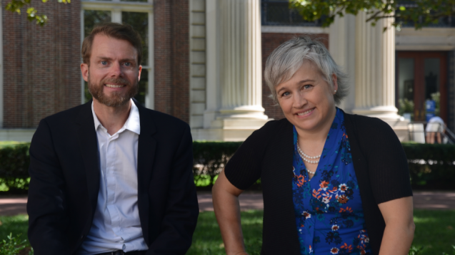 Researchers Pierre Gentine (left) and Galen McKinley will lead the new climate modeling center. (Marley Bauce)