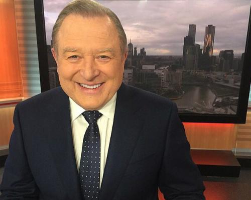 Channel Nine newsreader Peter Hitchener