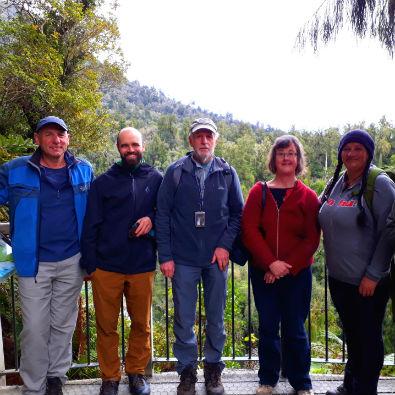 West Coast Tai Poutini Board members at Hokitika Gorge lookout.