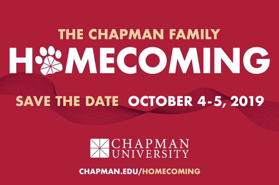 Chapman Family Homecoming Flyer