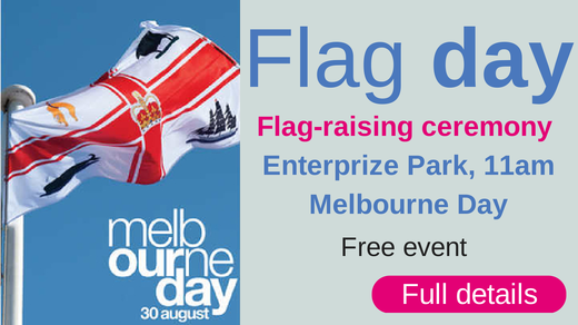 Join us at the official flag-raising ceremony.