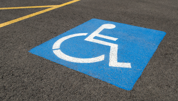 Disabled car park
