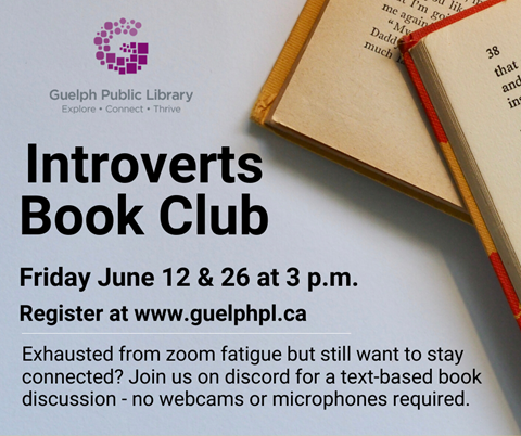 Exhausted from zoom fatigue but still want to stay connected? Bring your beverage of choice and the books you've been reading under quarantine to join other book loving introverts online at: https://discord.gg/QVkDZ8u
