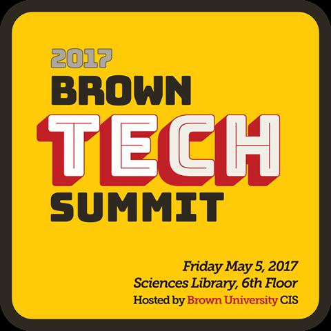 Schedule for Brown Tech Summit