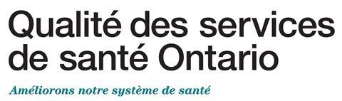 Qualité des services de santé Ontario mot-symbole