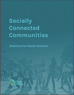 """Cover of a PDF document titled """"Socially Connected Communities: Solutions for Social Isolation"""""""
