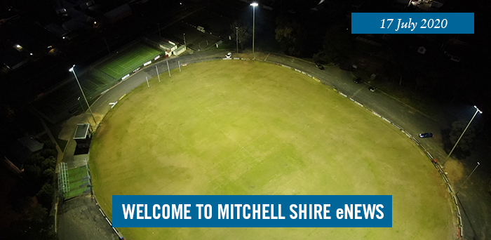 Harley Hammond Reserve oval in Broadford, lit up under the new lights
