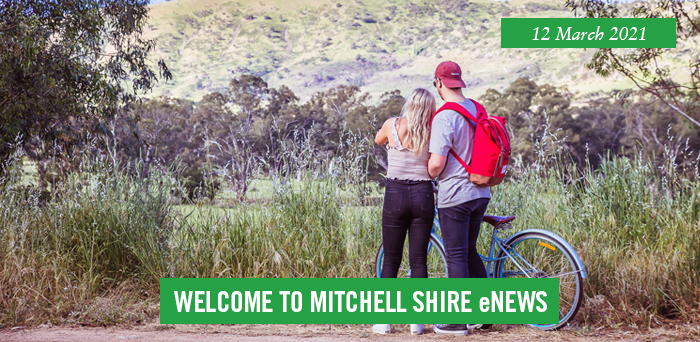 words: welcome to Mitchell Shire eNews, 12 March 2021