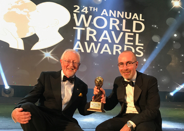 Dermod Dwyer and Stephen Meehan at the World Travel Awards