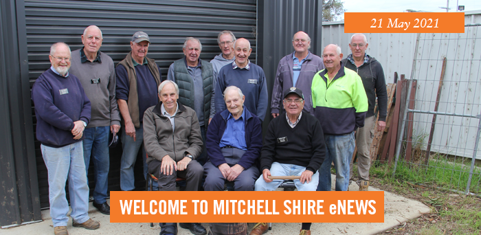 Members of the Broadford Men's Shed.