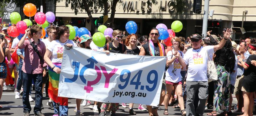 JOY Celebrating at Pride March 2017