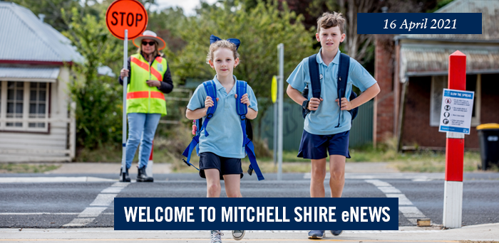 words: welcome to Mitchell Shire eNews, 16 April 2021
