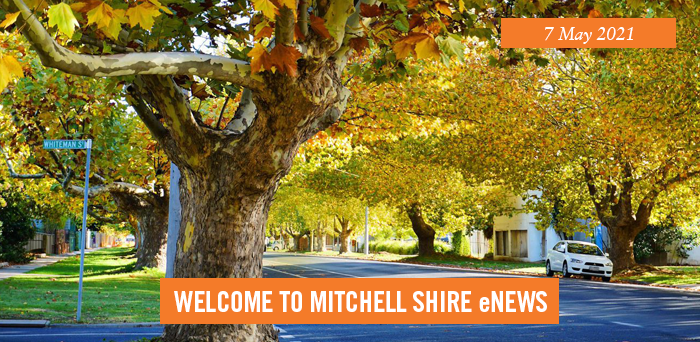 words: welcome to Mitchell Shire eNews, 7 May 2021