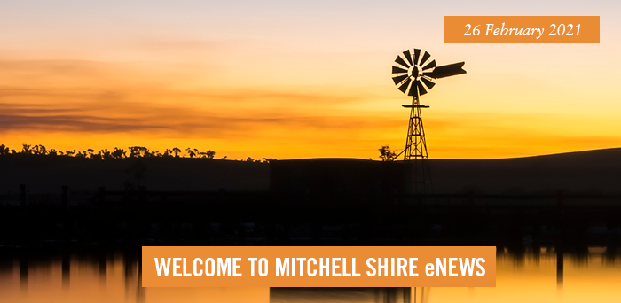 words: welcome to Mitchell Shire eNews, 26 February 2021