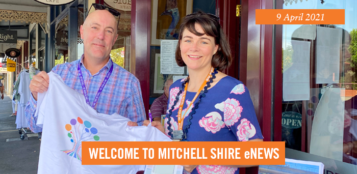 words: welcome to Mitchell Shire eNews, 9 April 2021