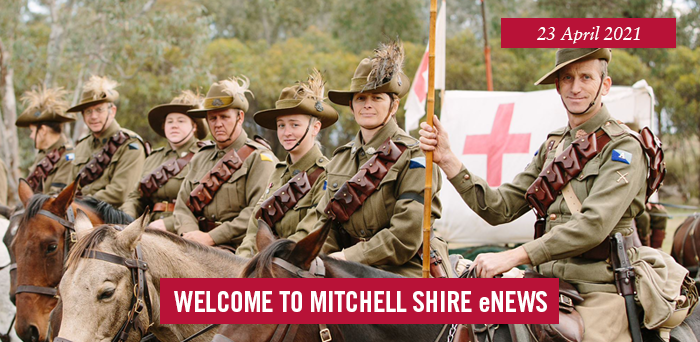 words: welcome to Mitchell Shire eNews, 23 April 2021