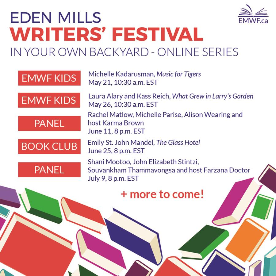 Enjoy listening to the Eden Mills Writers' Festival in your own backyard online series this summerey and Guelph's own Thomas King at this special mystery author event on Thursday, May 31 in the main library starting at 7pm. Free Admission. Presented in partnership with the Eden Mills Writers' Festival.