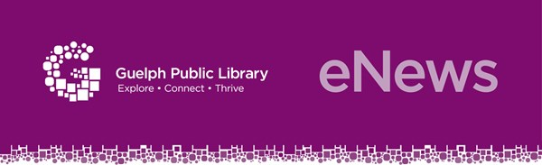 """This is the header of the library's eNewsletter. It states """"eNews"""" along with the library's logo."""