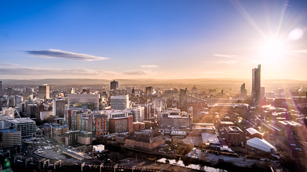 Manchester skyline during the day