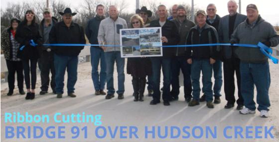 BR 91 over Hudson Creek ribbon cutting