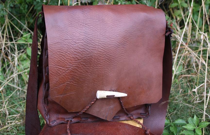 Handmade leather haversack