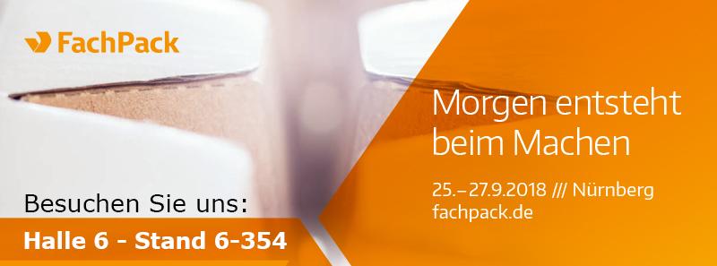 Fachpack 2018 - Nürnberg - Rixius Neuheiten in Halle 6 - Stand 6-354
