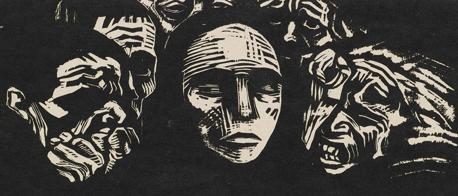 Käthe Kollwitz, The People, from the portfolio War, 1922