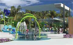 An artist's impression of the new water play park.