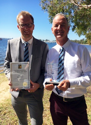 2017 saw two Health and Physical Education teachers reach Associated and Catholic College (ACC) milestones in their teaching careers. Mr Scott Britza received the ACC, 10 Year Outstanding Service Awards and Mr Richard Main the extraordinary ACC, 20 Year Outstanding Service Award. We thank both Mr Br