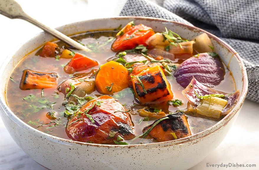 Roasted Vegetable and Herb Soup