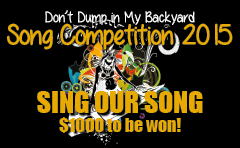 Don't Dump in My Backyard song competition flyer
