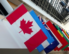 Canada flag and other flags