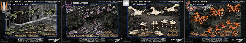 New UCM, Scourge, PHR and Shaltari Starter Armies in Plastic