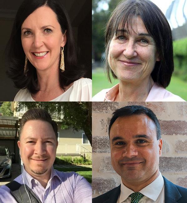 2016 HARC scholars: Bernadette Aliprandi-Costa, Kim Sutherland, Vladimir Williams and Malcolm Green
