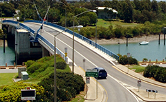 A photo of the Gladstone Marina Bridge