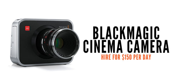 Black Magic Cinema Camera - hire for $150 a day