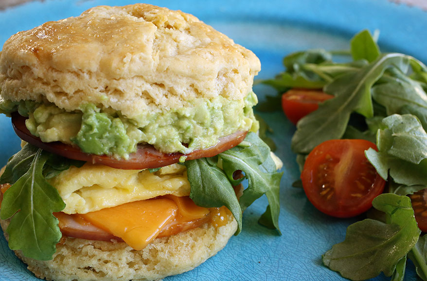 Einkorn breakfast sandwich