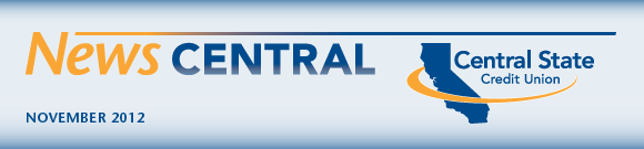 News Central, November 2012 - Central State Credit Union