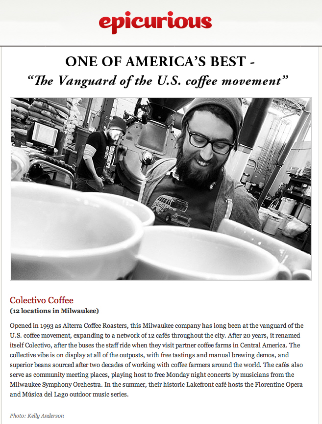 Epicurious named Colectivo one of America's best!