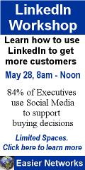 Ad: Easier Networks LinkedIn workshop