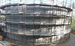 Exterior shot of reservoir structure