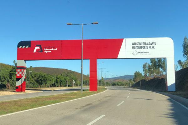 Race at Portimao Circuit in the Algarve